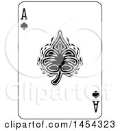 Black And White Ace Of Spades Playing Card Design