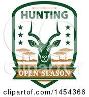 Impala Deer Open Season Hunting Shield