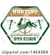 Crossbow And Rabbit Open Season Hunting Shield