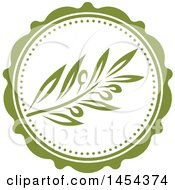 Green Olive Branch Label Design