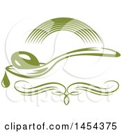 Green Olive And Spoon Design