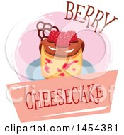 Clipart Graphic Of A Berry Cheesecake Design Royalty Free Vector Illustration