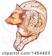 Clipart Graphic Of A Resting Dog Royalty Free Vector Illustration by Any Vector