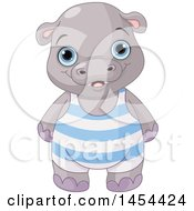 Poster, Art Print Of Cute Baby Boy Hippo