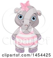 Poster, Art Print Of Cute Baby Girl Hippo