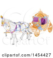 Poster, Art Print Of Fancy Fairy Tale Horse Drawn Carriage
