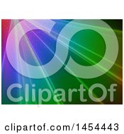 Clipart Graphic Of A Background Of Dots And Colorful Rays Royalty Free Vector Illustration by dero