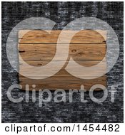 Clipart Graphic Of A 3d Wooden Sign On A Black Brick Wall Royalty Free Illustration by KJ Pargeter