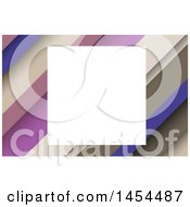 White Square Frame Over A Diagonal Stripes Background Or Business Card Design