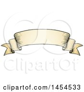 Clipart Graphic Of A Sketched Parchment Scroll Ribbon Banner Royalty Free Vector Illustration by cidepix