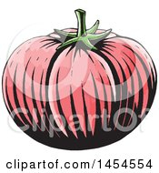 Poster, Art Print Of Sketched Tomato