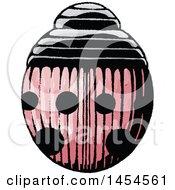 Clipart Graphic Of A Sketched Red Ladybug Royalty Free Vector Illustration by cidepix