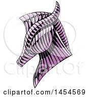 Poster, Art Print Of Sketched Purple Horse Head