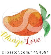 Clipart Graphic Of A Mandala Styled Mango Over Text Royalty Free Vector Illustration