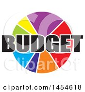 Clipart Of A Colorful Budget Pie Chart Royalty Free Vector Illustration