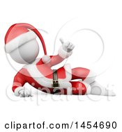 Clipart Graphic Of A 3d White Man Christmas Santa Resting And Giving A Thumb Up On A White Background Royalty Free Illustration