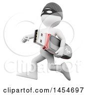 Clipart Graphic Of A 3d White Man Robber Running With A Stolen Usb Stick On A White Background Royalty Free Illustration by Texelart