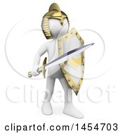 Clipart Graphic Of A 3d White Man Knight On A White Background Royalty Free Illustration
