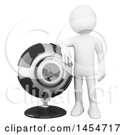 April 23rd, 2017: Clipart Graphic Of A 3d White Man Leaning On A Webcam On A White Background Royalty Free Illustration by Texelart