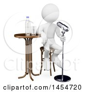 3d White Man Comedian On A White Background
