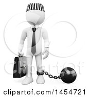 Clipart Graphic Of A 3d White Man Corrupt Politician Prisoner On A White Background Royalty Free Illustration by Texelart