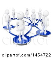 Clipart Graphic Of A 3d White Man Network On A White Background Royalty Free Illustration