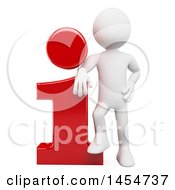 April 23rd, 2017: Clipart Graphic Of A 3d White Man Leaning On An Info Icon On A White Background Royalty Free Illustration by Texelart