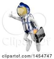 April 23rd, 2017: Clipart Graphic Of A 3d White Business Man Flying With A Rocket On A White Background Royalty Free Illustration by Texelart