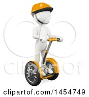 Clipart Graphic Of A 3d White Man On A Segway On A White Background Royalty Free Illustration by Texelart