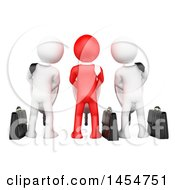 April 23rd, 2017: Clipart Graphic Of 3d Red And White Business Men Using Urinals Industrial Espionage On A White Background Royalty Free Illustration by Texelart