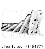 Clipart Graphic Of A 3d White Businessman Trying To Hold Up Dominos Chain Reaction On A White Background Royalty Free Illustration by Texelart