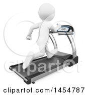 April 23rd, 2017: Clipart Graphic Of A 3d White Man Exercising On A Treadmill On A White Background Royalty Free Illustration by Texelart