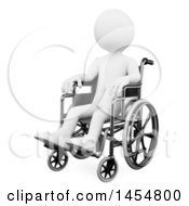 April 23rd, 2017: Clipart Graphic Of A 3d White Man In A Wheelchair On A White Background Royalty Free Illustration by Texelart