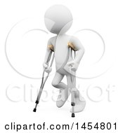 April 23rd, 2017: Clipart Graphic Of A 3d White Man Using Crutches On A White Background Royalty Free Illustration by Texelart