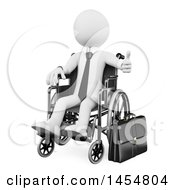 April 23rd, 2017: Clipart Graphic Of A 3d White Disabled Business Man Giving A Thumb Up In A Wheelchair On A White Background Royalty Free Illustration by Texelart