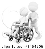 April 23rd, 2017: Clipart Graphic Of A 3d White Man Helping Someone In A Wheelchair On A White Background Royalty Free Illustration by Texelart