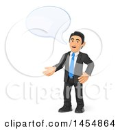 April 24th, 2017: Clipart Graphic Of A 3d Business Man Talking And Gesturing On A White Background Royalty Free Illustration by Texelart