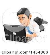 April 24th, 2017: Clipart Graphic Of A 3d Business Man Using A Laptop On The Floor On A White Background Royalty Free Illustration by Texelart