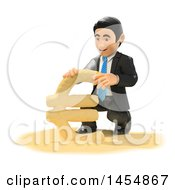 Clipart Graphic Of A 3d Business Man Making A Euro Currency Symbol On A Beach On A White Background Royalty Free Illustration by Texelart