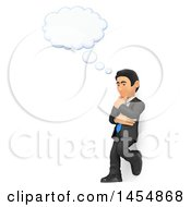 April 24th, 2017: Clipart Graphic Of A 3d Business Man Leaning Against A Wall And Thinking On A White Background Royalty Free Illustration by Texelart