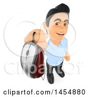 April 24th, 2017: Clipart Graphic Of A 3d Man Holding Up A Computer Mouse On A White Background Royalty Free Illustration by Texelart