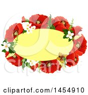 Clipart Of A Red Poppy Flower Design Element Royalty Free Vector Illustration