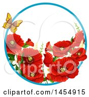 Clipart Of A Red Poppy Flower Design Element Royalty Free Vector Illustration by Vector Tradition SM