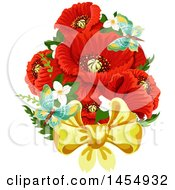 Poster, Art Print Of Red Poppy Flower Design Element