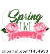 Poster, Art Print Of Pink Rose Spring Time Flower Design Element