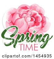 Pink Rose Spring Time Flower Design Element