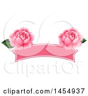Clipart Of A Pink Rose Flower Design Element Royalty Free Vector Illustration
