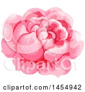 Clipart Of A Pink Rose Flower Design Element Royalty Free Vector Illustration by Vector Tradition SM