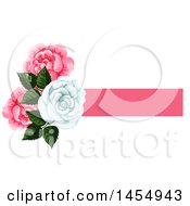 Clipart Of A White And Pink Rose Flower Design Element Royalty Free Vector Illustration by Vector Tradition SM