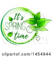 Poster, Art Print Of Green Leaf And Its Spring Time Design Element